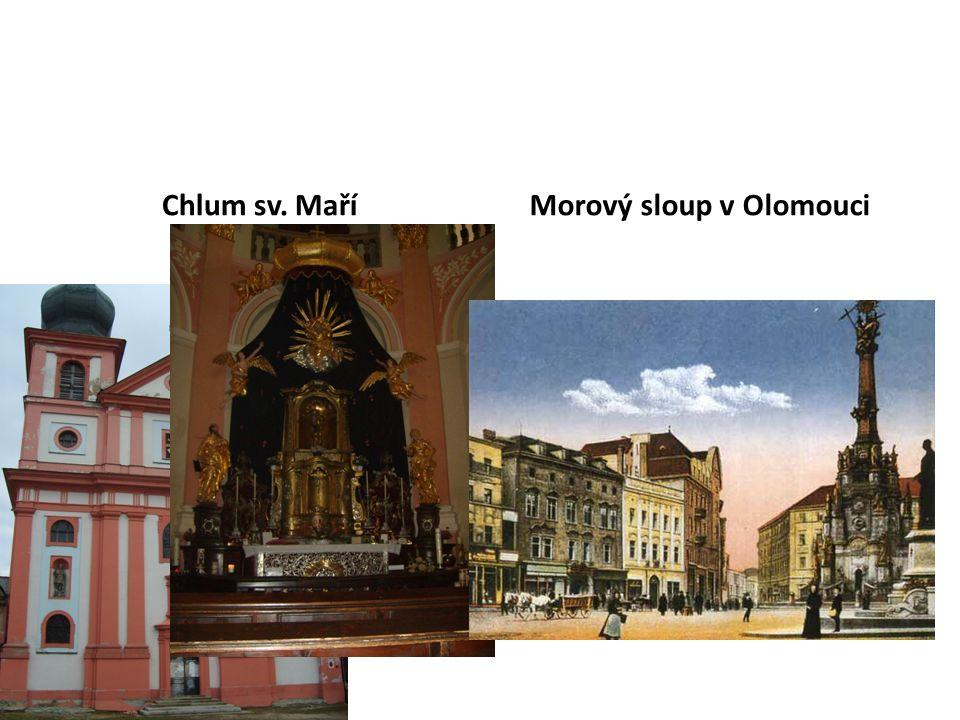 Chlum sv. MaříMorový sloup v Olomouci