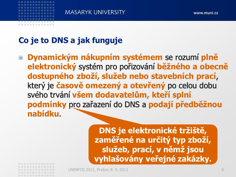 1.Zavedení DNS 2.