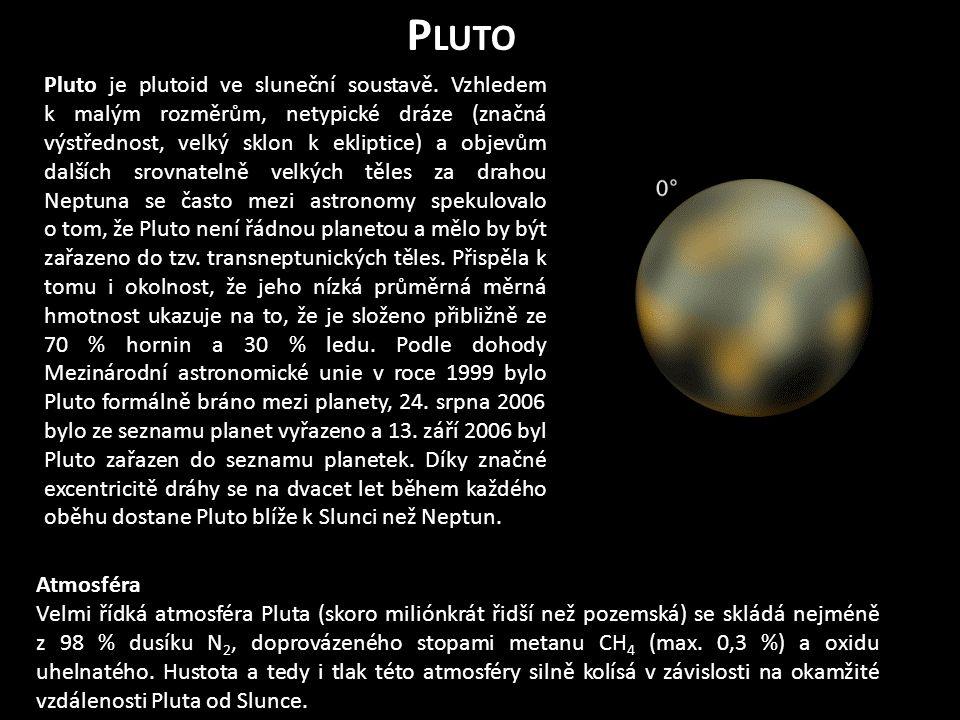 P LUTO Pluto je plutoid ve sluneční soustavě.