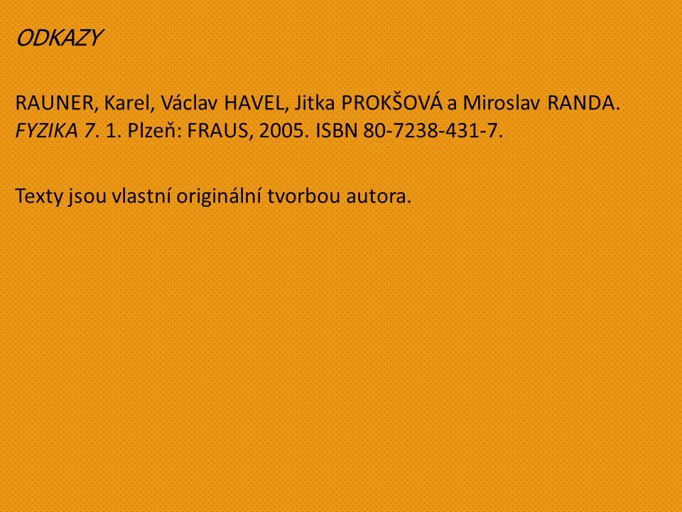 ODKAZY RAUNER, Karel, Václav HAVEL, Jitka PROKŠOVÁ a Miroslav RANDA.