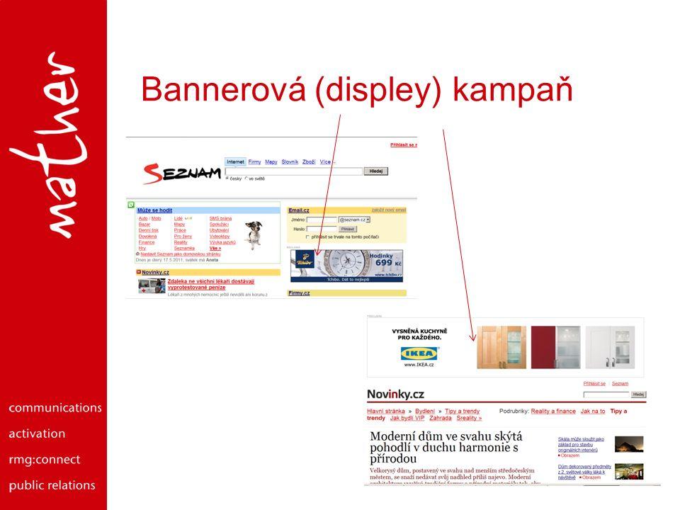 Navigační plán on-line reklamy Placená textová reklama Klíčové slovo