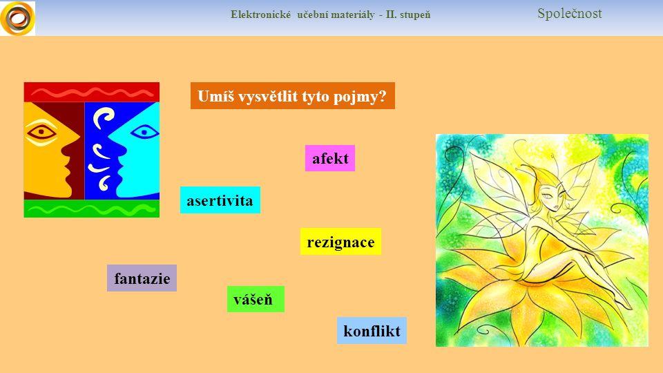 Elektronické učební materiály - II.stupeň Společnost Umíš vysvětlit tyto pojmy.