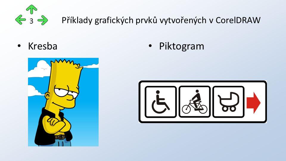 Příklady grafických prvků vytvořených v CorelDRAW Kresba Piktogram 3