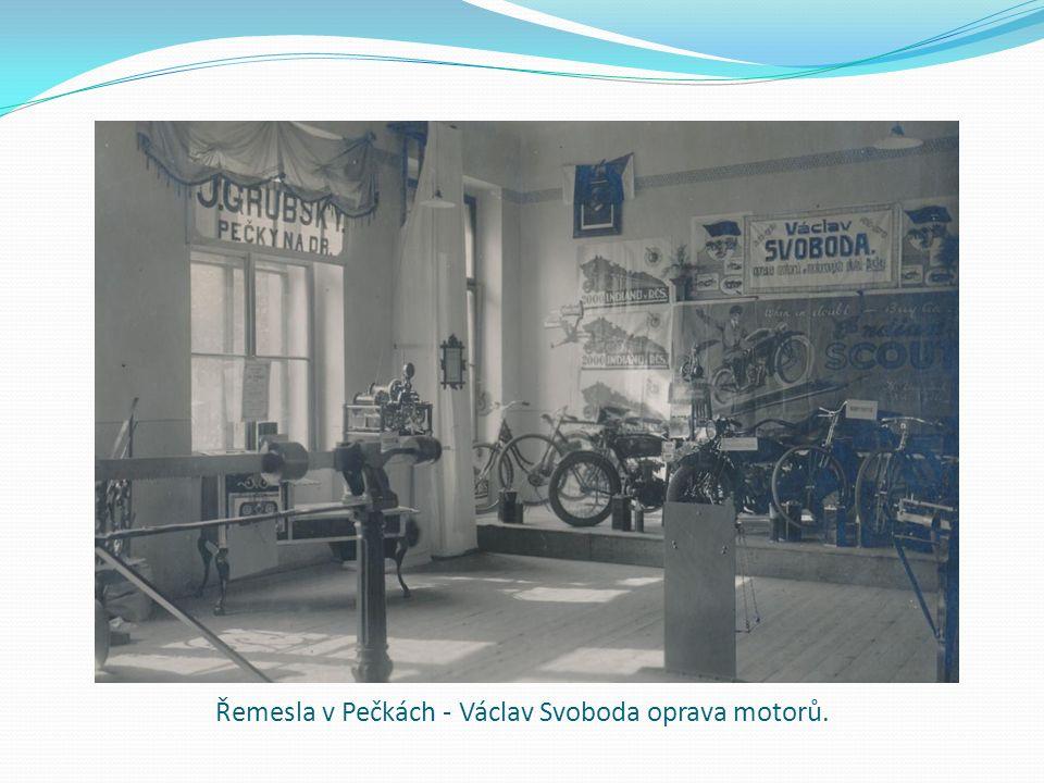 Řemesla v Pečkách - Václav Svoboda oprava motorů.