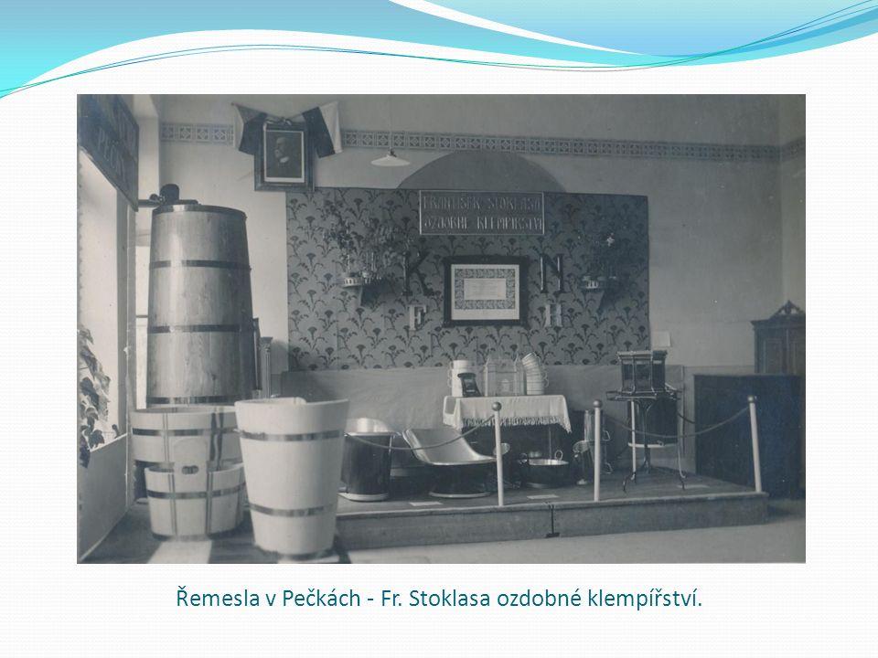 Řemesla v Pečkách - Fr. Stoklasa ozdobné klempířství.