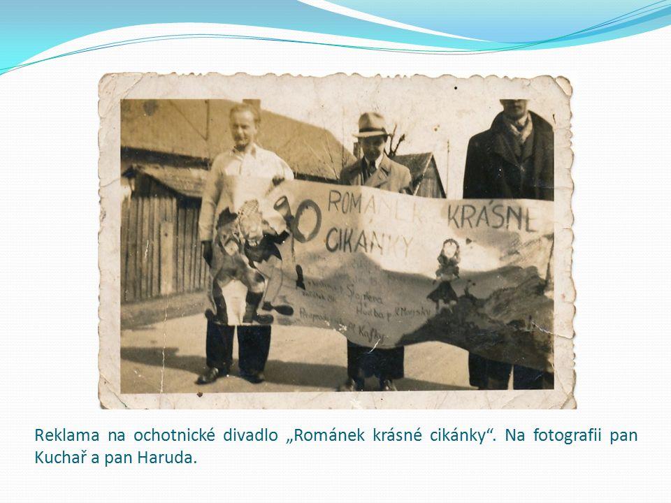 Divadelní ochotníci, pan Kuchař, Šulc a Houdek.
