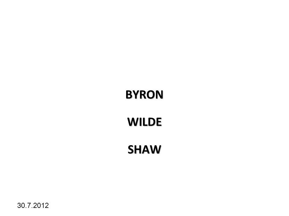 Kliknutím lze upravit styl předlohy. 30.7.2012 BYRONWILDESHAW