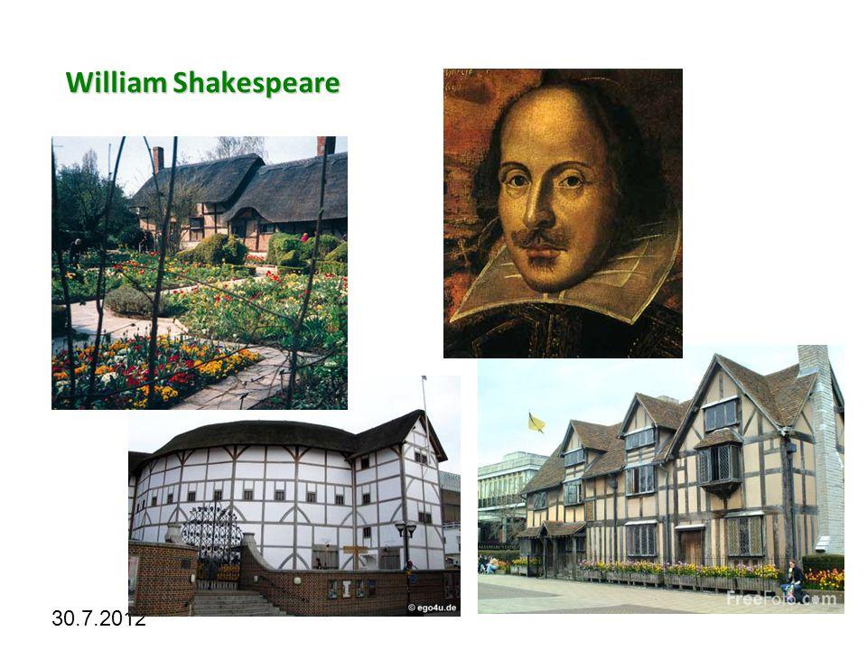 Kliknutím lze upravit styl předlohy. 30.7.2012 William Shakespeare