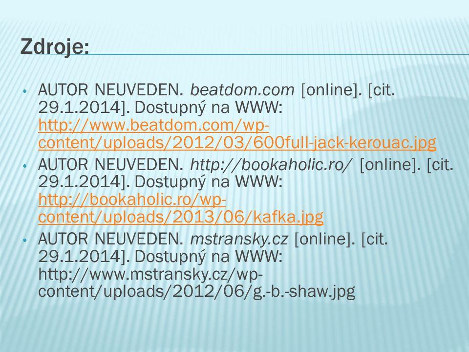 Zdroje: AUTOR NEUVEDEN. beatdom.com [online]. [cit.