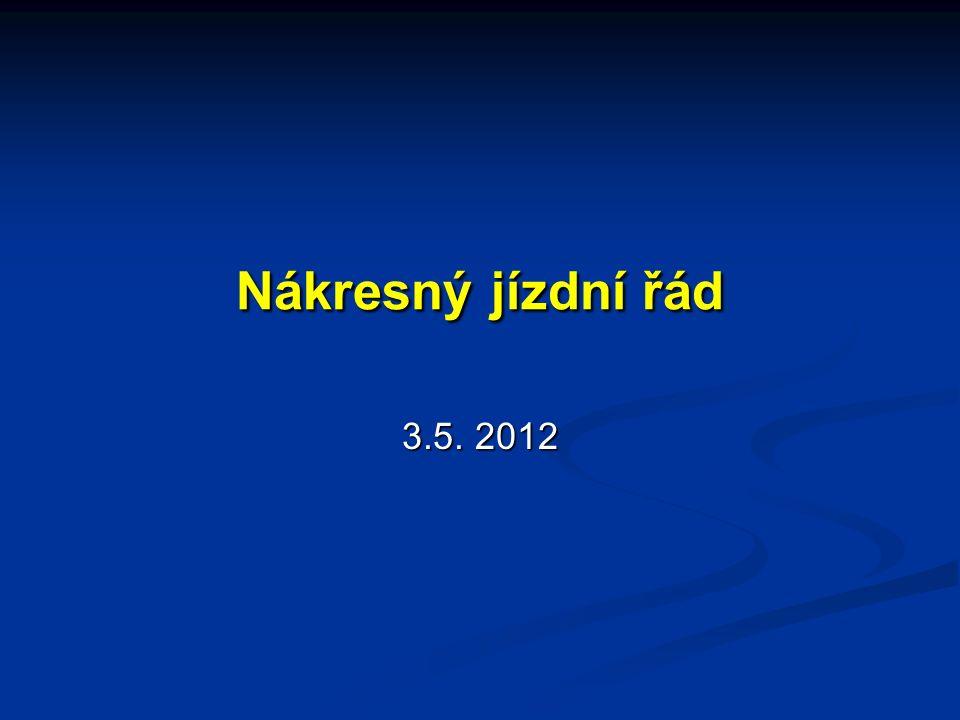 Nákresný jízdní řád 3.5. 2012