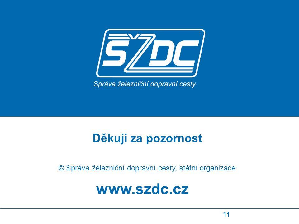 11 www.szdc.cz © Správa železniční dopravní cesty, státní organizace Děkuji za pozornost