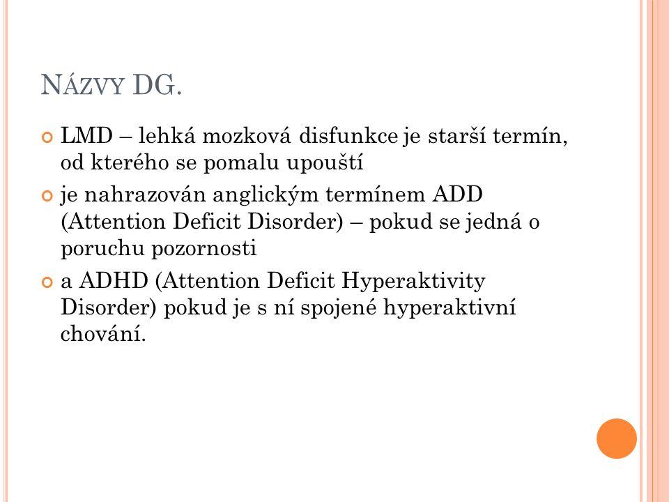 N ÁZVY DG.