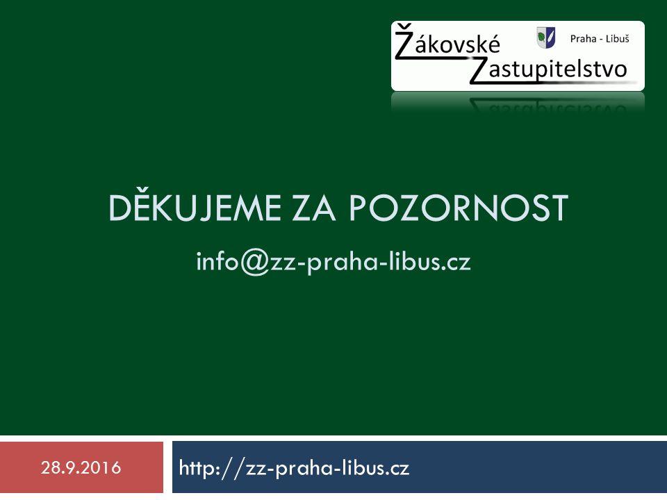 http://zz-praha-libus.cz 28.9.2016 DĚKUJEME ZA POZORNOST info@zz-praha-libus.cz