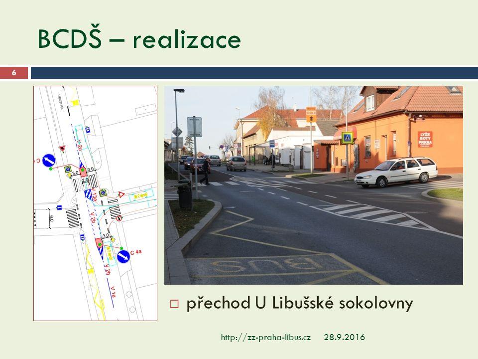 BCDŠ – realizace 28.9.2016http://zz-praha-libus.cz 6  přechod U Libušské sokolovny
