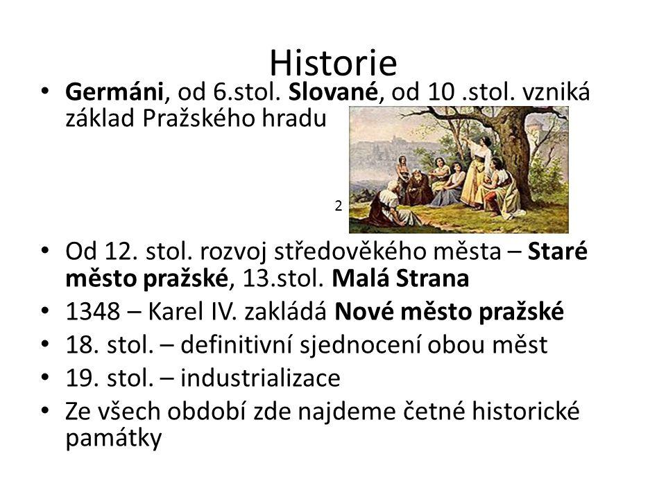 Historie Germáni, od 6.stol. Slované, od 10.stol.
