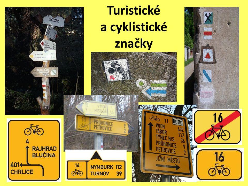 Turistické a cyklistické značky