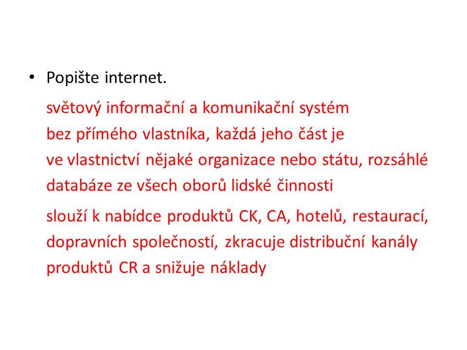 Popište internet.
