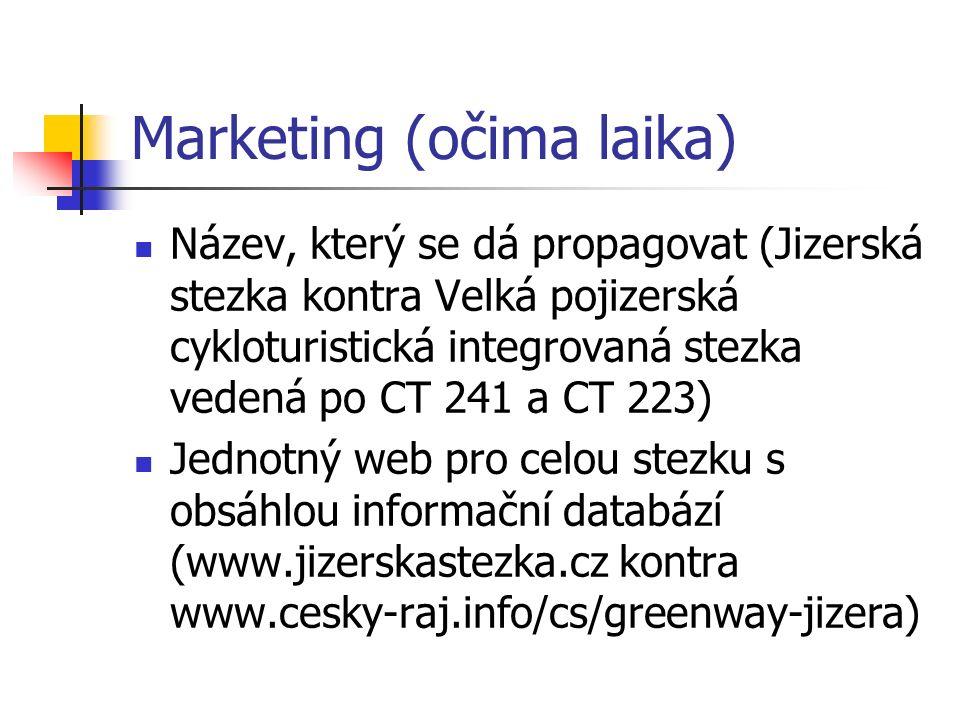 Marketing (očima laika) Název, který se dá propagovat (Jizerská stezka kontra Velká pojizerská cykloturistická integrovaná stezka vedená po CT 241 a C