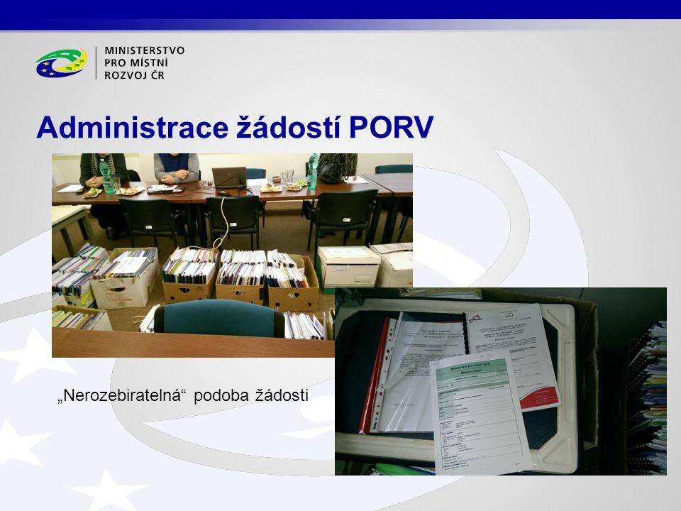 """Administrace žádostí PORV """"Nerozebiratelná podoba žádosti"""