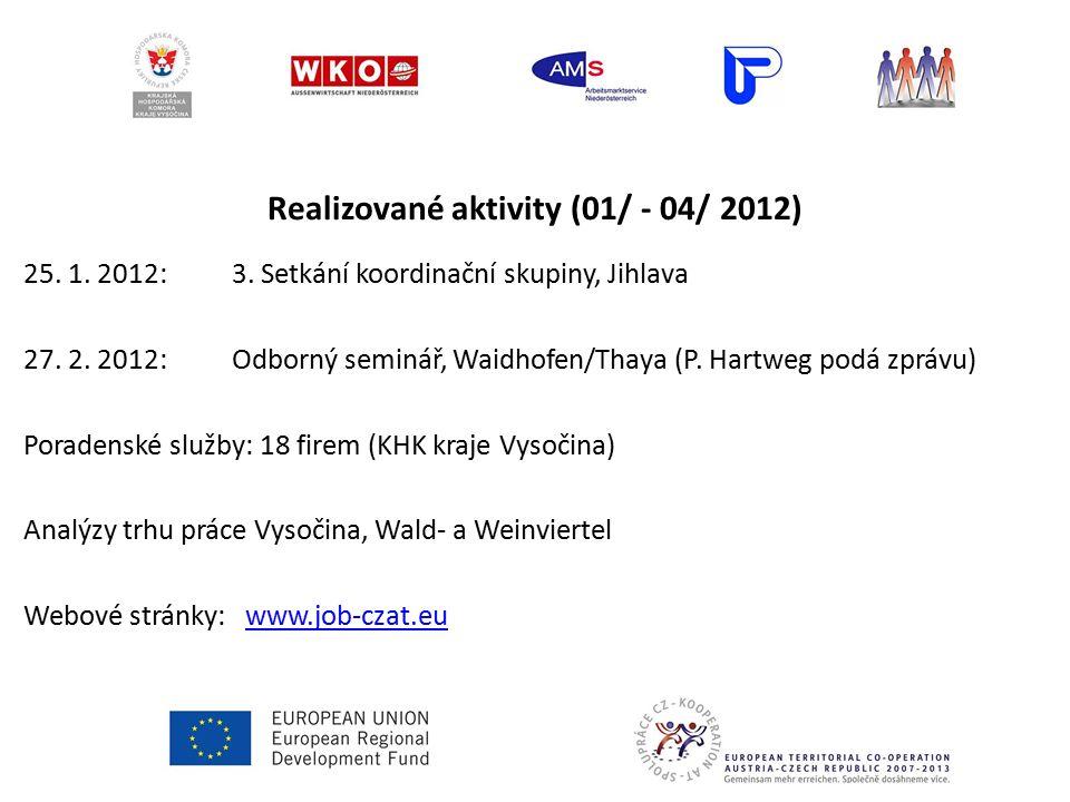 Realizované aktivity (01/ - 04/ 2012) 25.1. 2012: 3.
