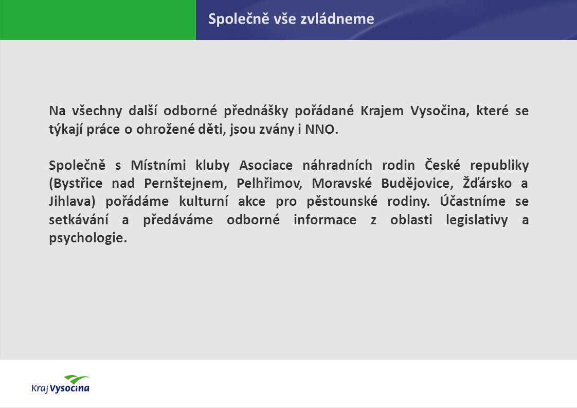 PREZENTUJÍCÍ Na všechny další odborné přednášky pořádané Krajem Vysočina, které se týkají práce o ohrožené děti, jsou zvány i NNO.
