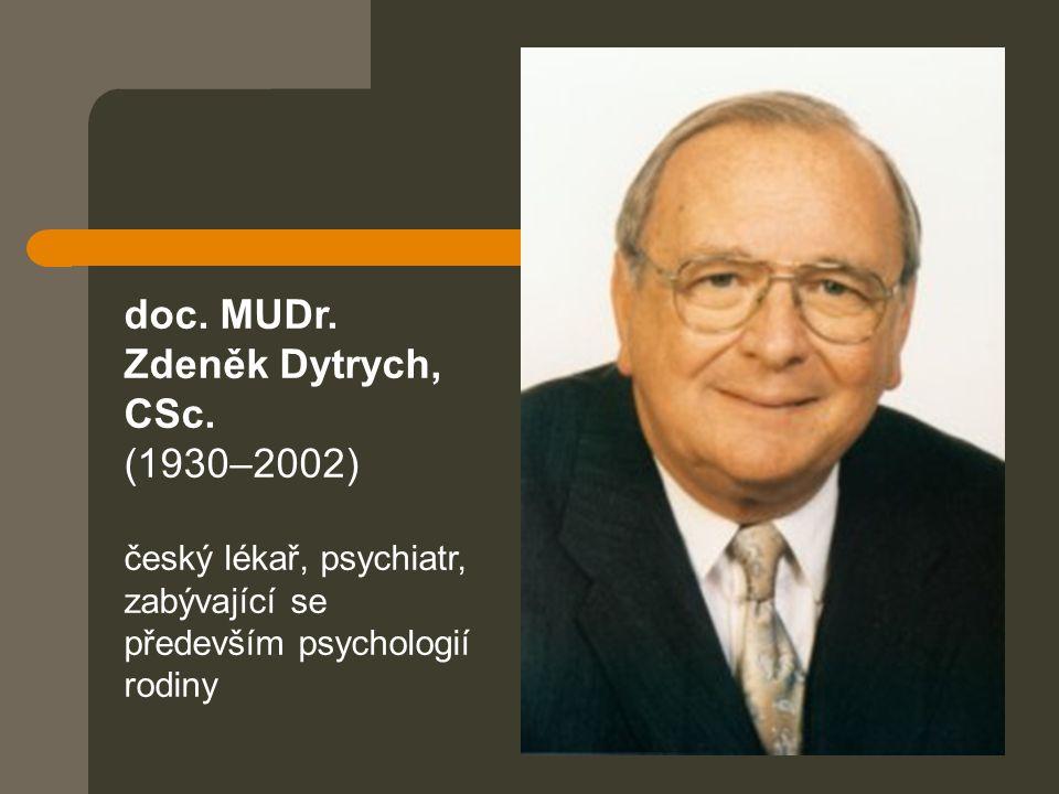 doc. MUDr. Zdeněk Dytrych, CSc. (1930–2002) český lékař, psychiatr, zabývající se především psychologií rodiny
