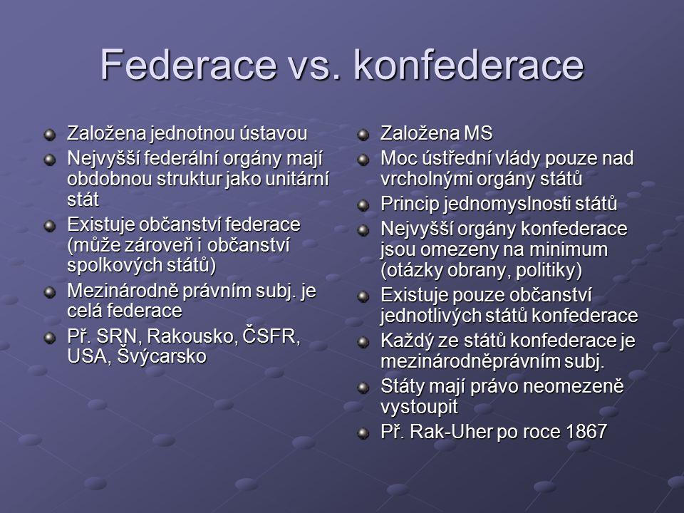 Federace vs.