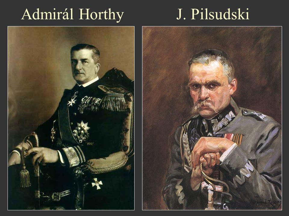 Admirál Horthy J. Pilsudski