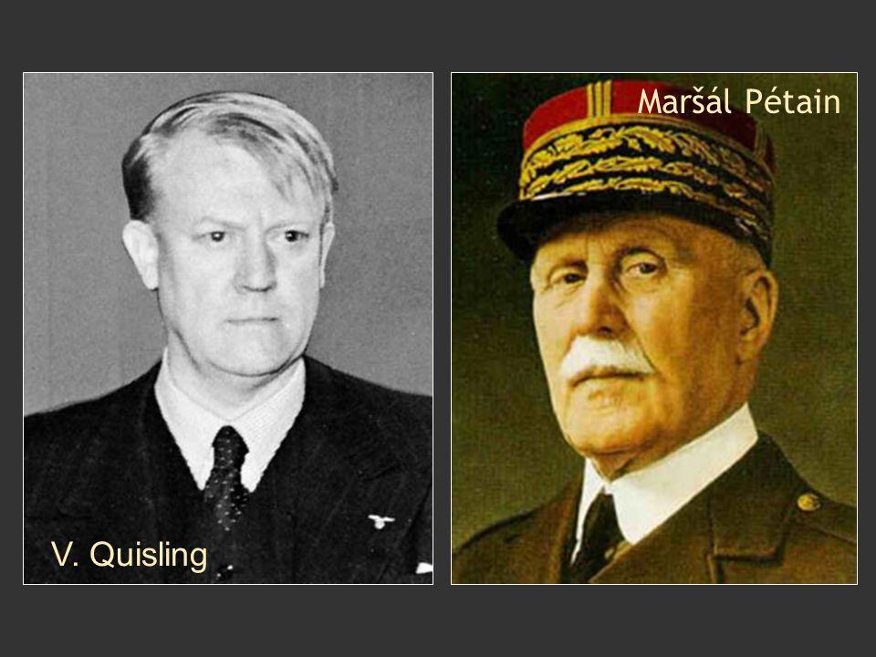 Maršál Pétain V. Quisling