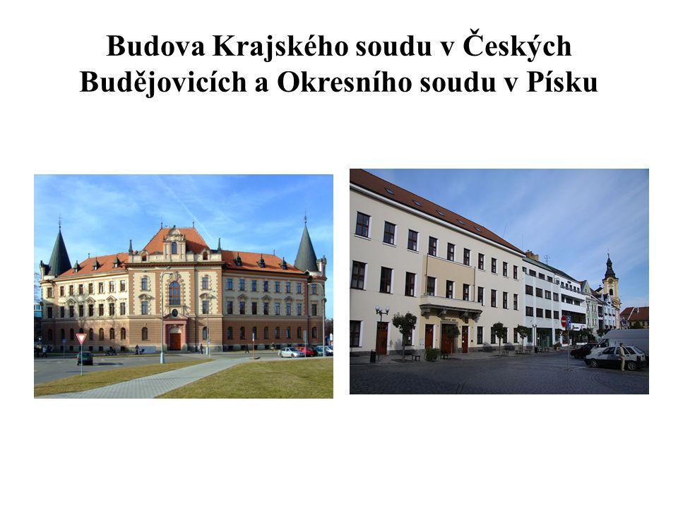 Budova Krajského soudu v Českých Budějovicích a Okresního soudu v Písku