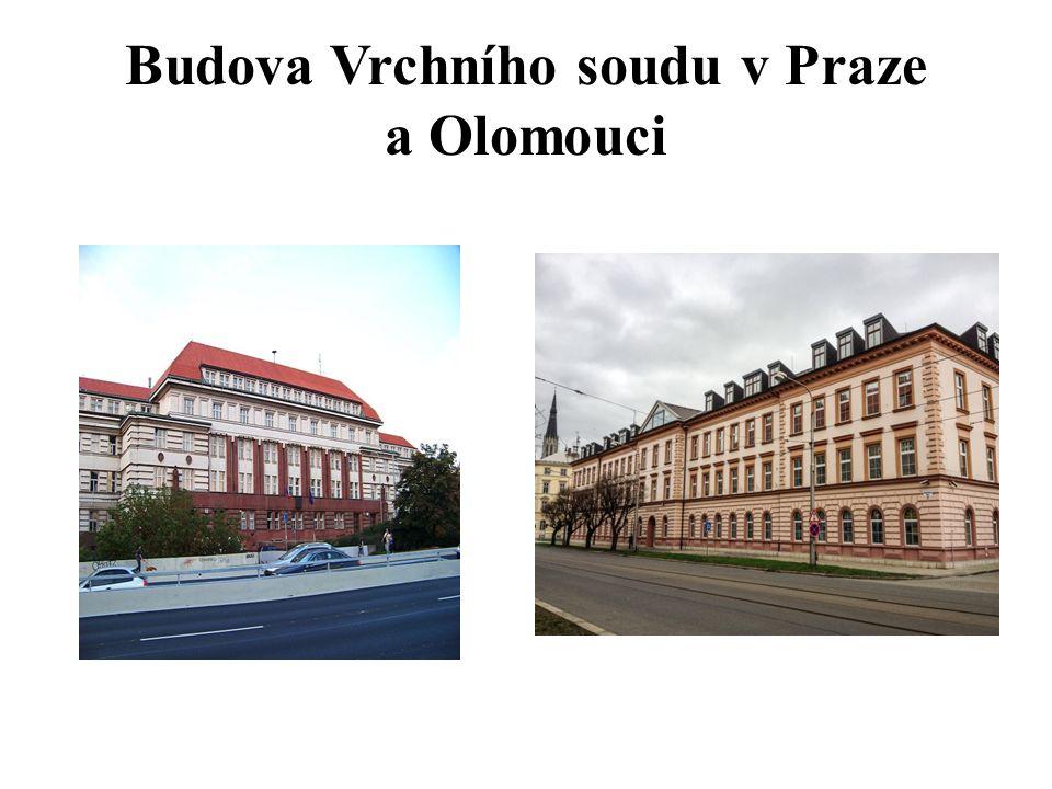 Budova Vrchního soudu v Praze a Olomouci