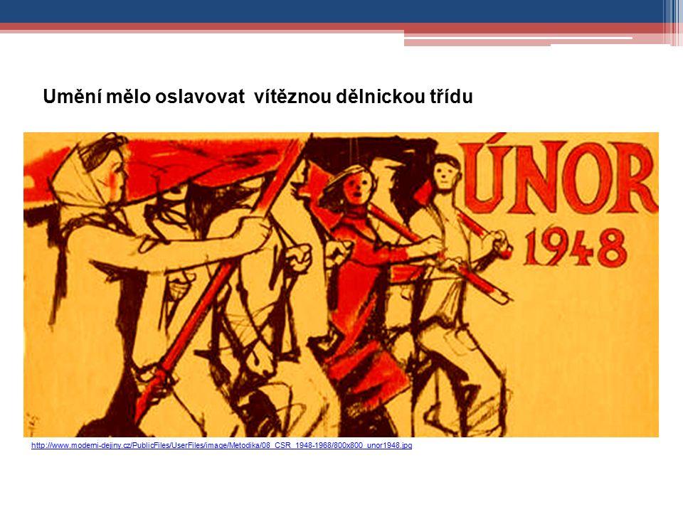 http://www.moderni-dejiny.cz/PublicFiles/UserFiles/image/Metodika/08_CSR_1948-1968/800x800_unor1948.jpg Umění mělo oslavovat vítěznou dělnickou třídu