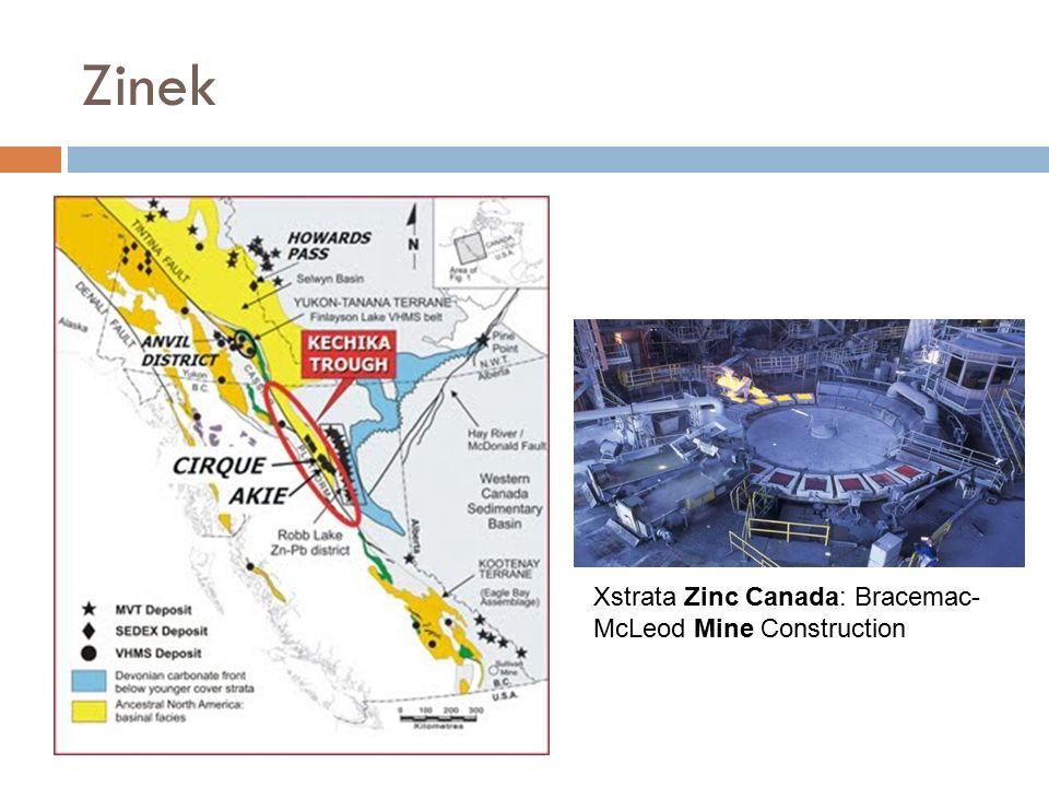 Zinek Xstrata Zinc Canada: Bracemac- McLeod Mine Construction