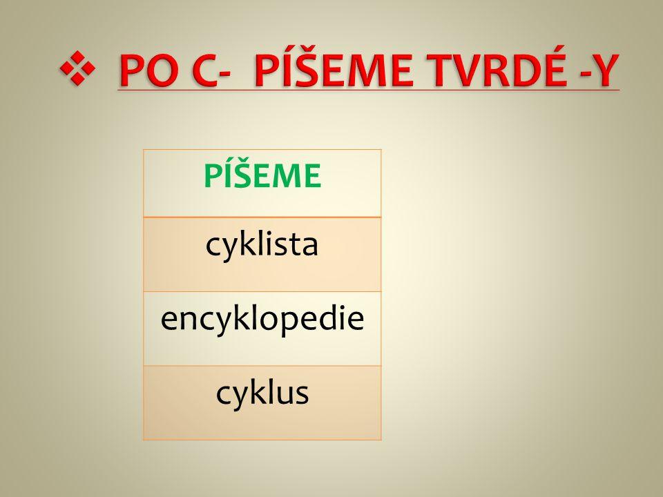 PÍŠEME cyklista encyklopedie cyklus