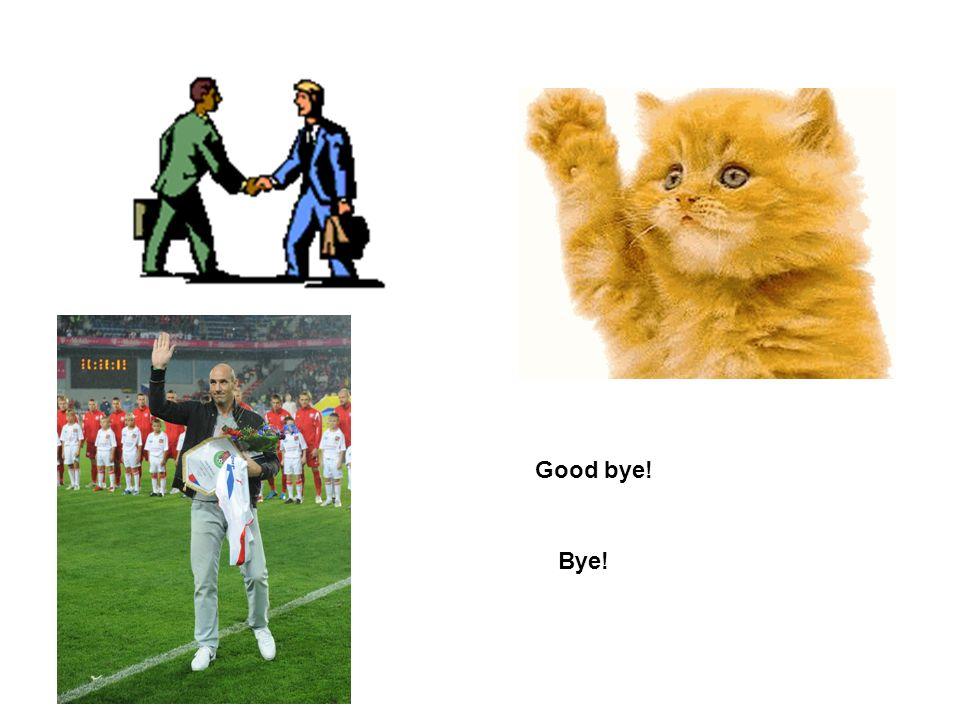 Good bye! Bye!