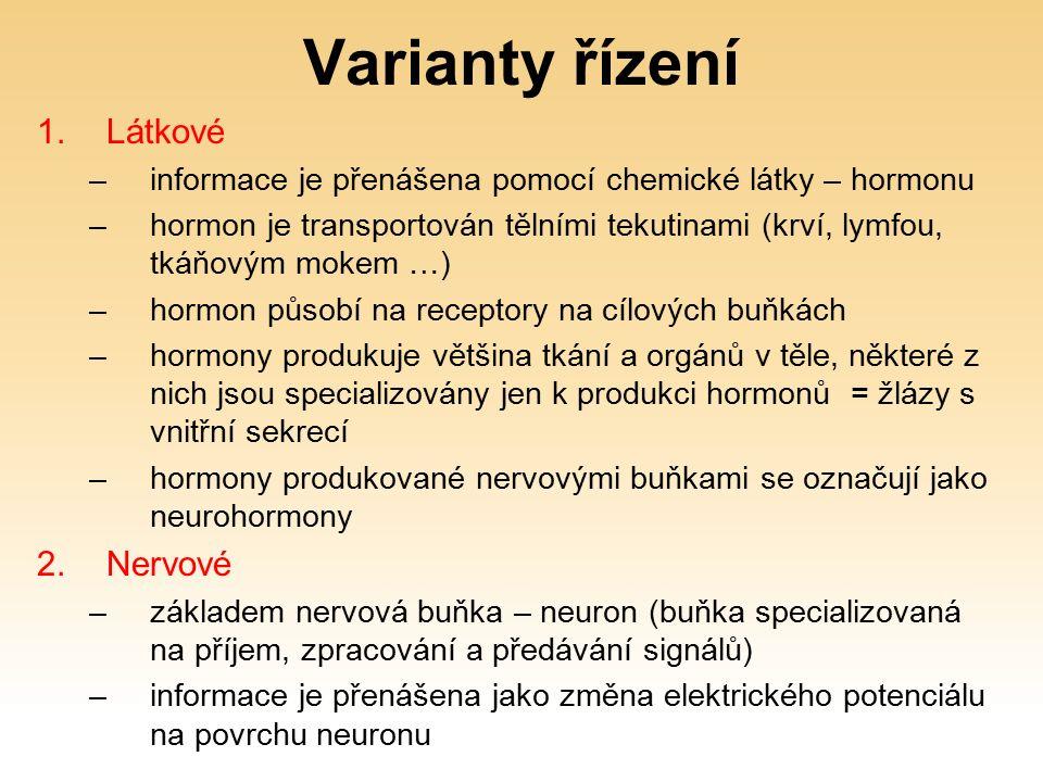 Hormony jsou chemické látky nesoucí informaci.