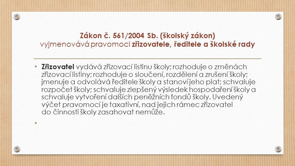 Zákon č. 561/2004 Sb.