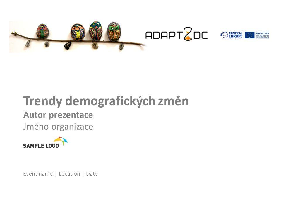 Trendy demografických změn Autor prezentace Jméno organizace Event name | Location | Date