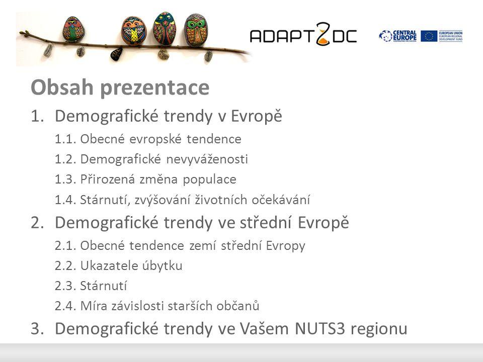 Obsah prezentace 1.Demografické trendy v Evropě 1.1.