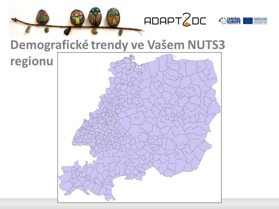 Demografické trendy ve Vašem NUTS3 regionu