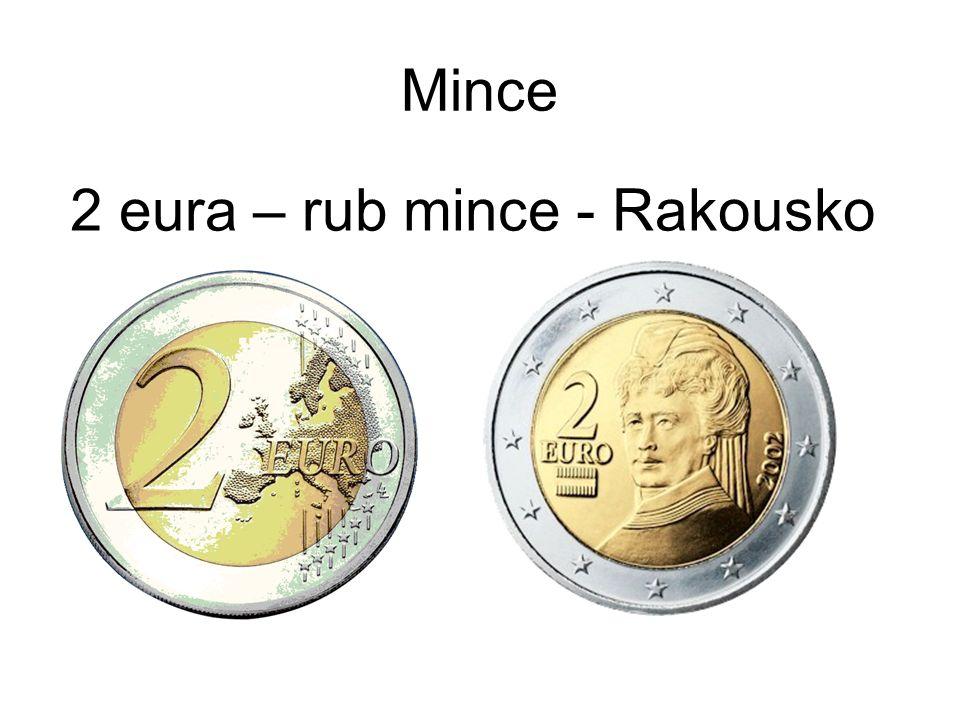 Mince 2 eura – rub mince - Rakousko