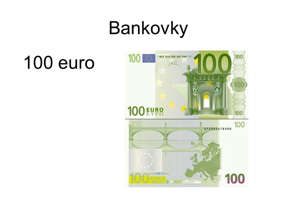 Bankovky 100 euro