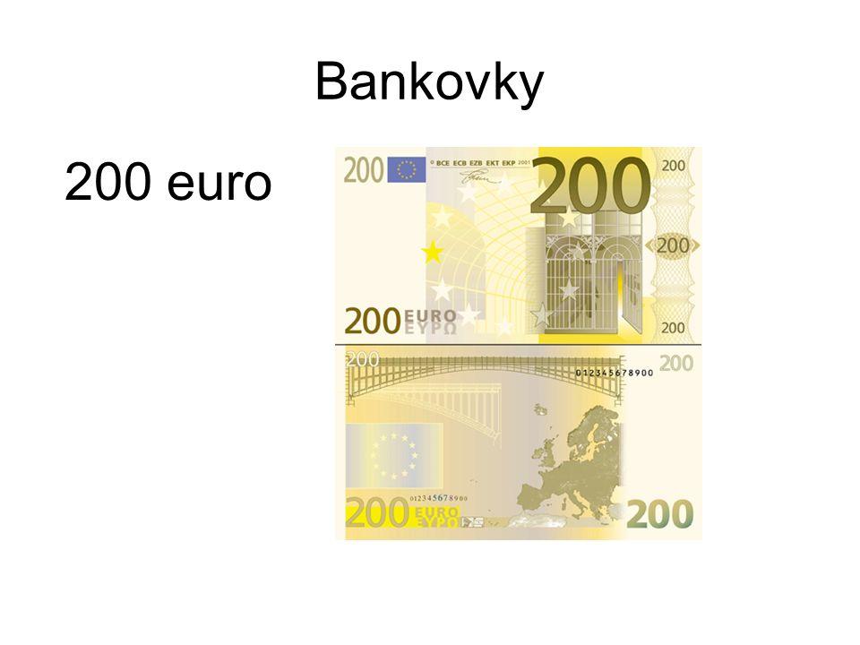 Bankovky 200 euro