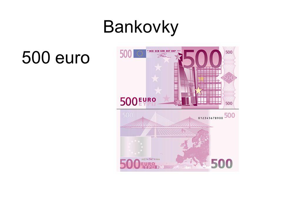 Bankovky 500 euro