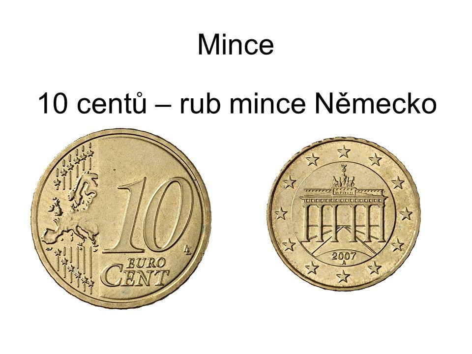 Mince 10 centů – rub mince Německo