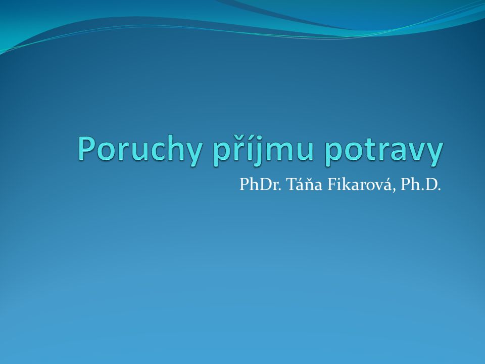 PhDr. Táňa Fikarová, Ph.D.