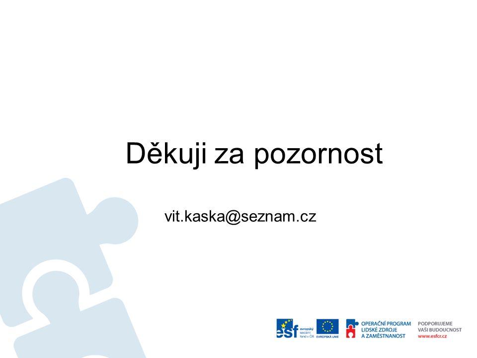 Děkuji za pozornost vit.kaska@seznam.cz