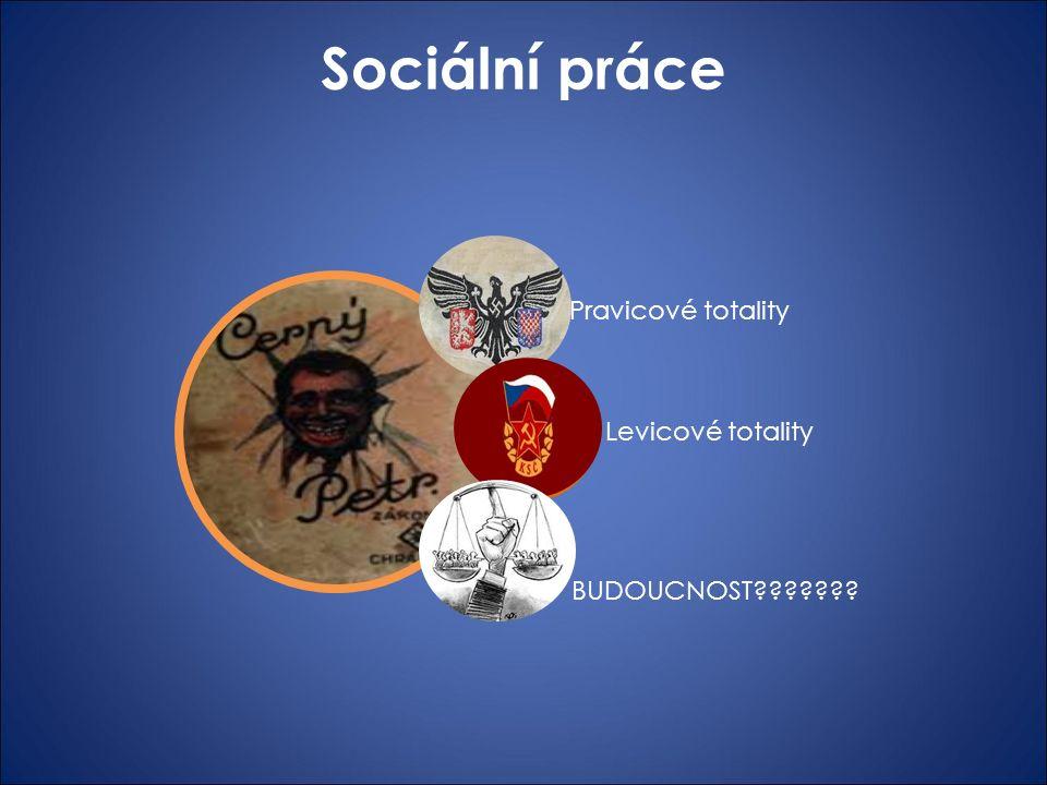 Sociální práce SOCIÁLNÍ PRÁCE Levicové totality Pravicové totality BUDOUCNOST