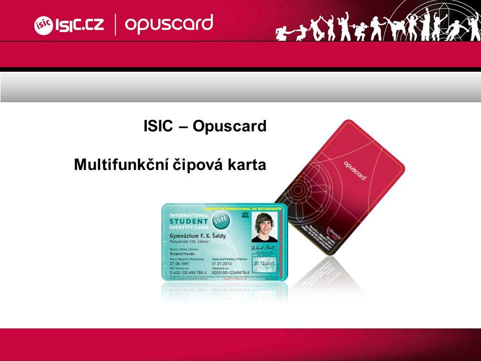 ISIC – Opuscard Multifunkční čipová karta