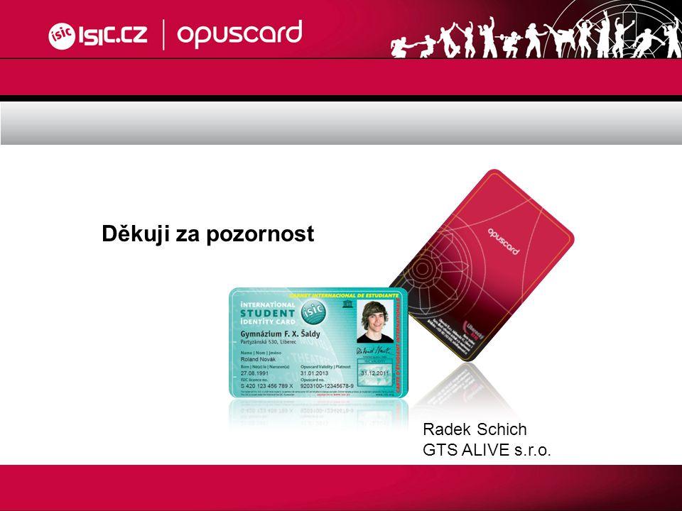 Děkuji za pozornost Radek Schich GTS ALIVE s.r.o.